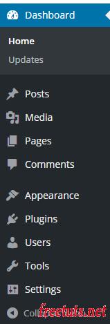 admin menu wordpress png
