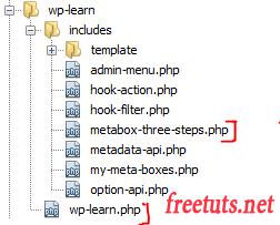three steps create metabox wordpress png