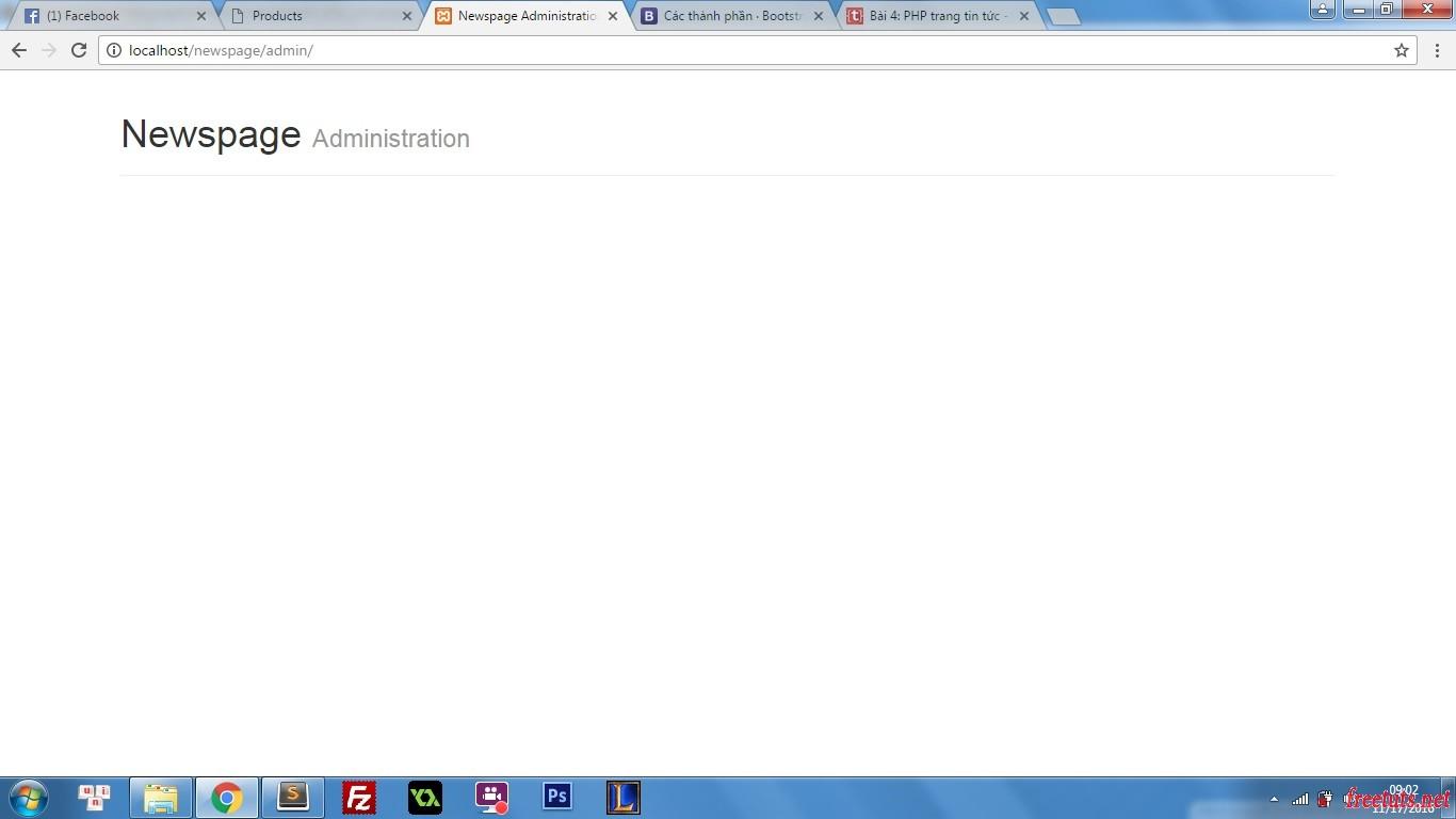 php trang tin tuc xay dung header va footer admin ket qua header jpg