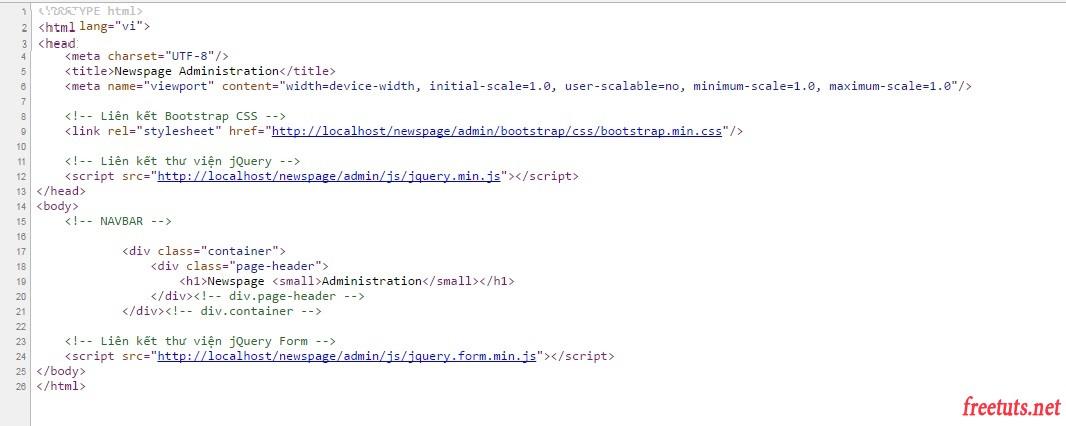 php trang tin tuc xay dung header va footer admin xem nguon trang jpg
