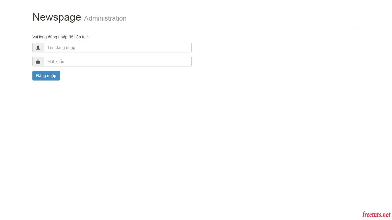 php trang tin tuc tao chuc nang dang nhap admin ket qua template dang nhap jpg