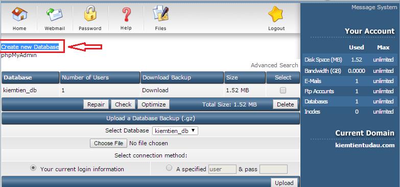 tao database direct admin 2 png