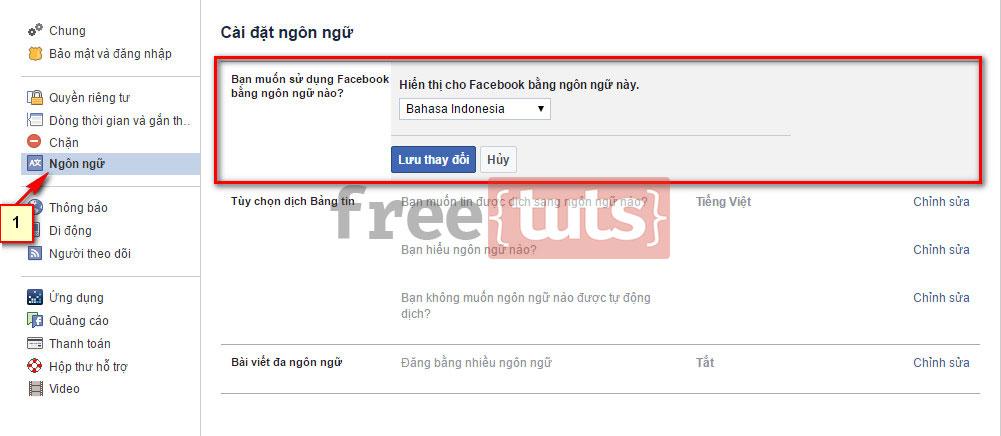 Cách đổi tên Facebook duy nhất 1 chữ