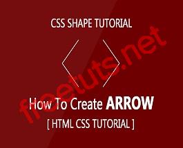 Hướng dẫn tạo các dấu mũi tên với CSS
