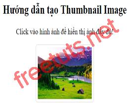 Hướng dẫn tạo Thumbnail Image