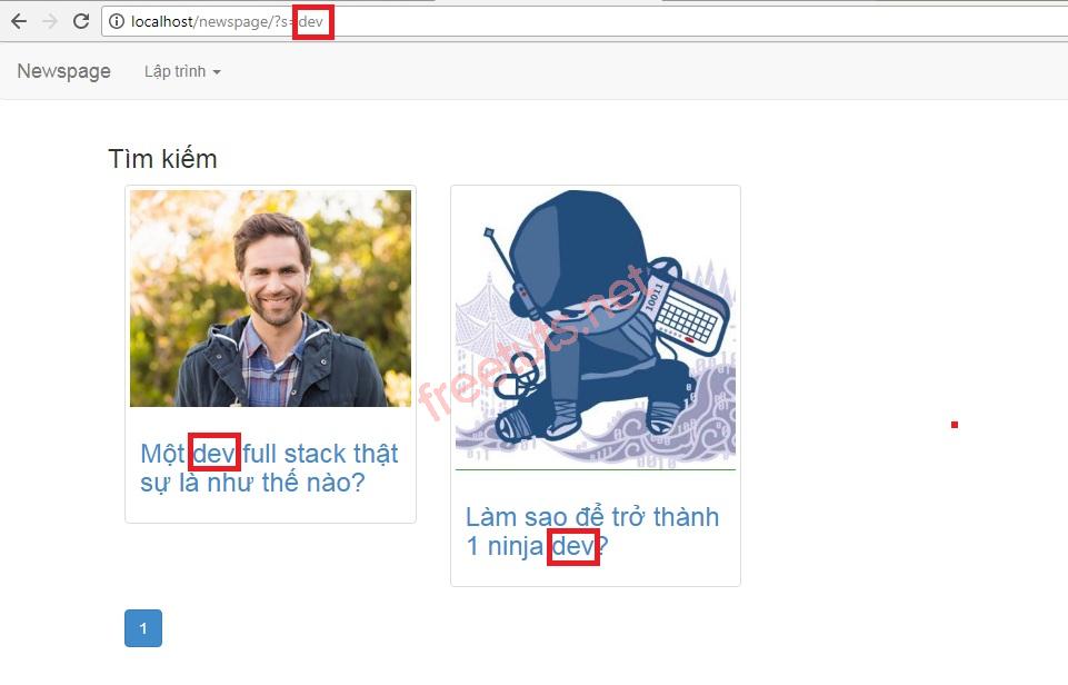 php trang tin tuc xay dung chuc nang tim kiem ket qua jpg