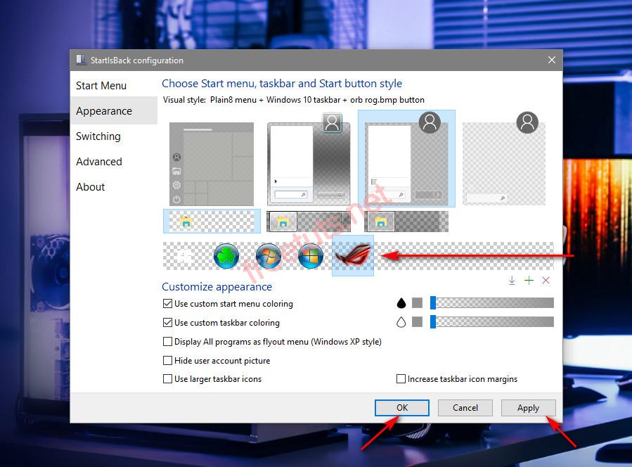 startisback 2B 2B251 phan mem tuy bien taskbar va start menu 20 111  jpg