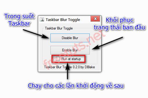 trong suot taskbar windows 7 de dang voi toggle blur 3 jpg