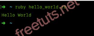 Cách chạy chương trình trong Ruby