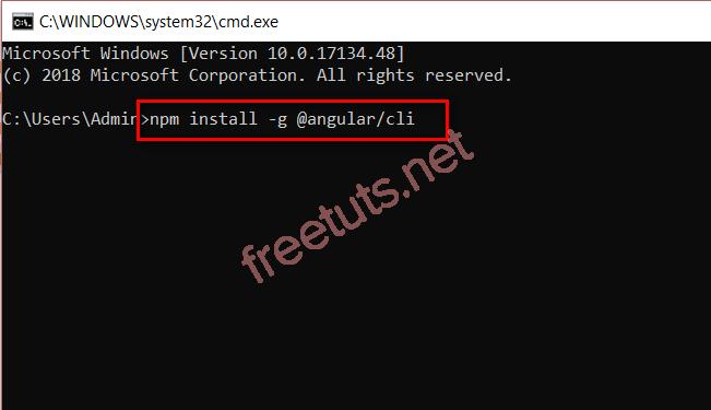 Cài đặt angular 4 trên command line