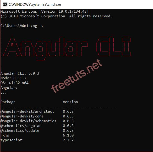 Kiểm tra Angular 4 CLI đã cài đặt thành công hay chưa