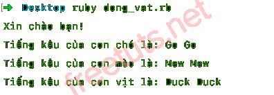Cách tạo class trong Ruby
