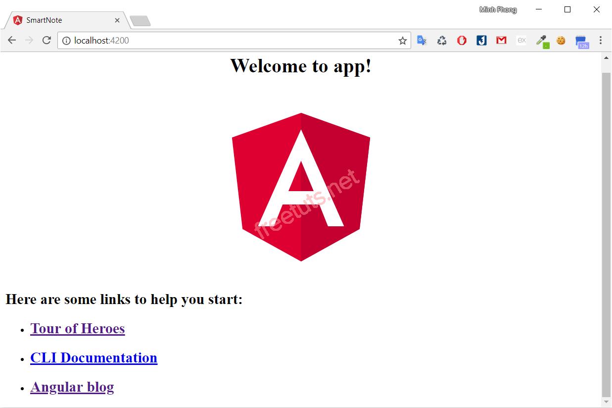 Ứng dụng Angular 4 đầu tiên