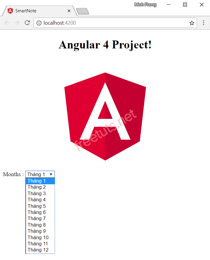 Data binding trong angular 4