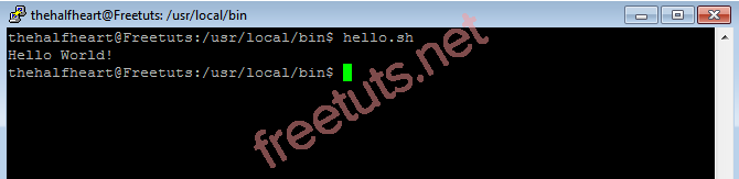 hello shell script png