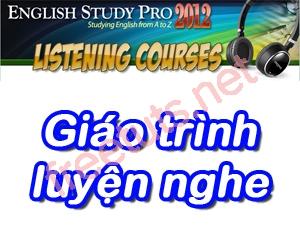Hướng dẫn cài đặt các giáo trình luyện nghe cho English Study Pro 2012