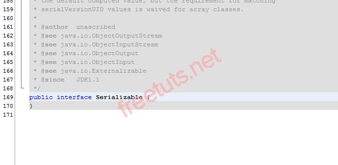 Class Serializable là một Marker Interface