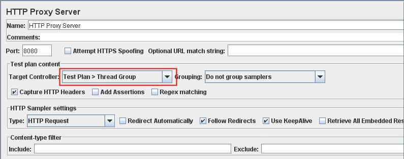 HTTP Proxy Server trong JMeter 7 jpg