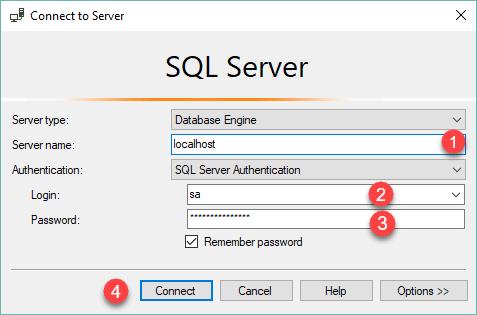 step 1 login to the SQL Server png