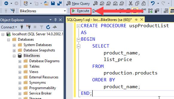 SQL Server Stored Procedure Compiling png