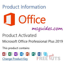 activate office 2019 professional plus png