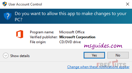 allow office 2019 installer png
