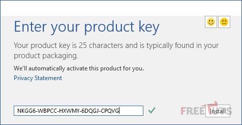 Enter Microsoft Office 2016 Product Key jpg