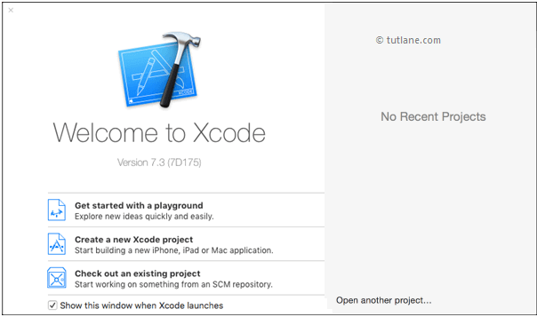 open xcode to create new ios app using xcode png