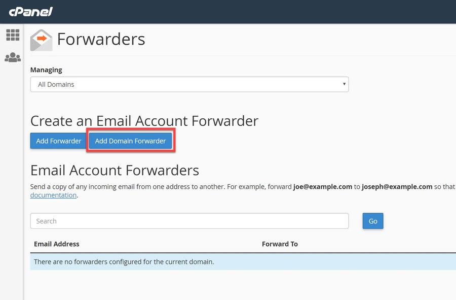 add domain forwarder jpg