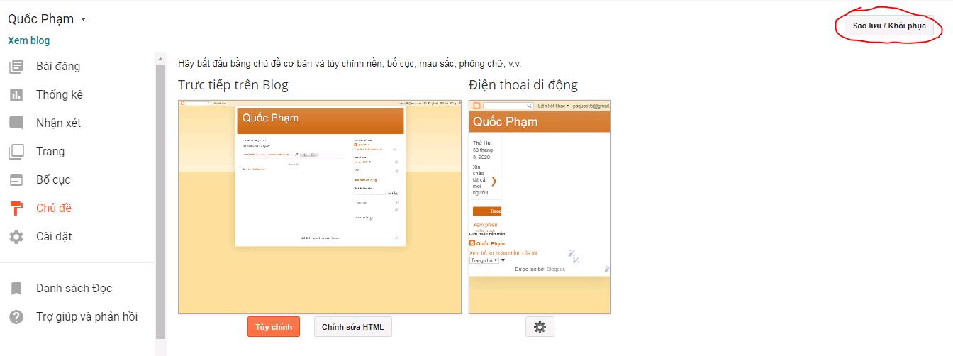 khoi phuc sao luu blogspot PNG