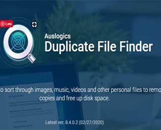 Download Auslogics Duplicate File Finder, xóa file trùng lặp miễn phí