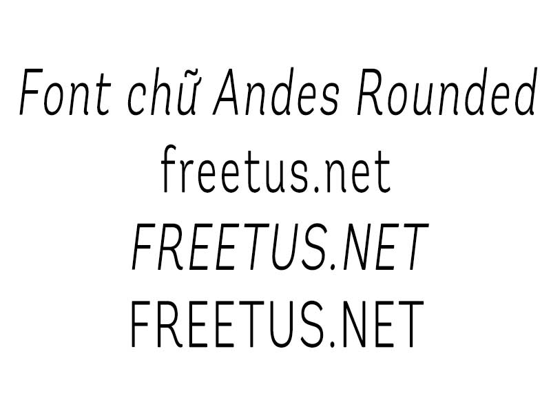 font chu Andes Rounded jpg