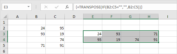 transpose table without zeros png
