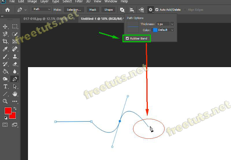 cach ve duong cong trong photoshop 5 jpg