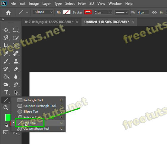 cach ve duong thang trong photoshop bang line tool 1 jpg