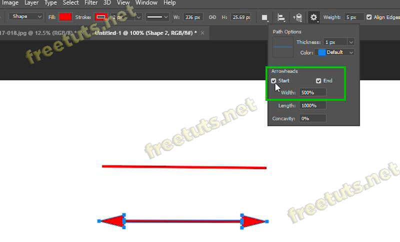 cach ve duong thang trong photoshop bang line tool 4 jpg