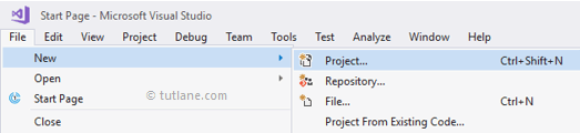 create new project in csharp programming language png