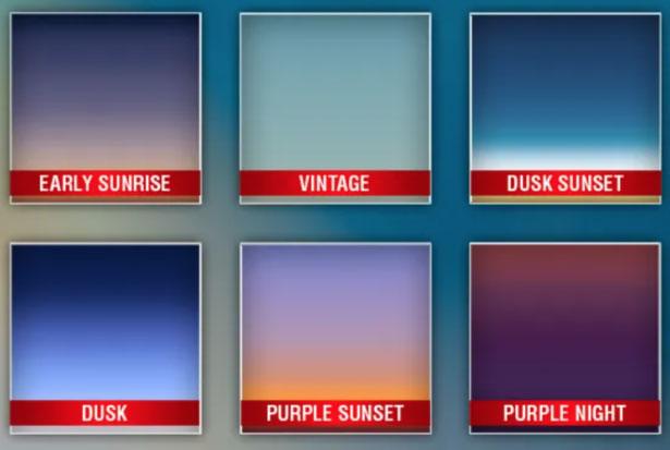 Realistic Sky Gradients jpg