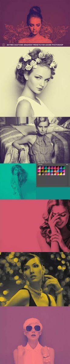 26 Free Duotone Gradient Presets for Adobe Photoshop the Pinterest jpg jpg