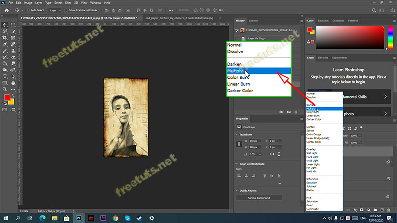 chuyen anh thanh tranh ve bang photoshop 13 jpg