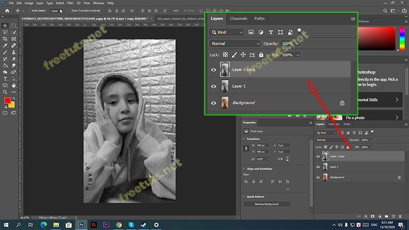 chuyen anh thanh tranh ve bang photoshop 3 jpg