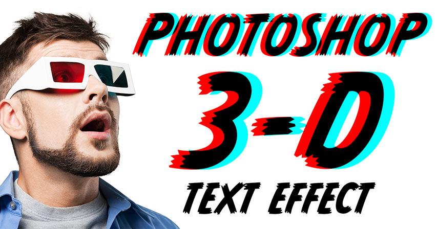Cach tao hieu ung chu 3d Retro trong Photoshop 1 jpg