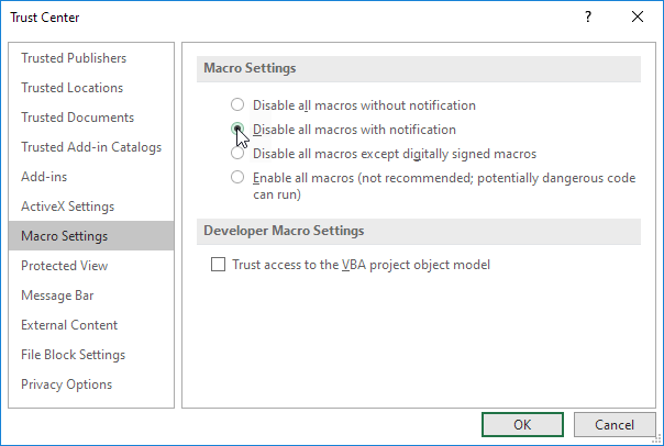 disable all macros with notification png