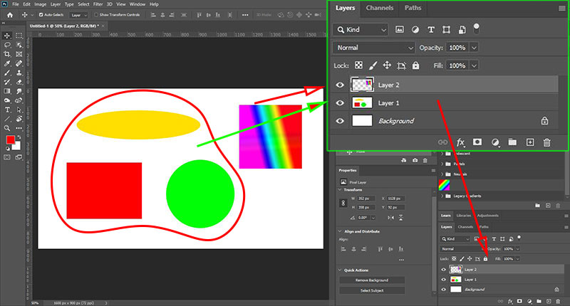 cach gop layer tach layer background trong photoshop 1 jpg