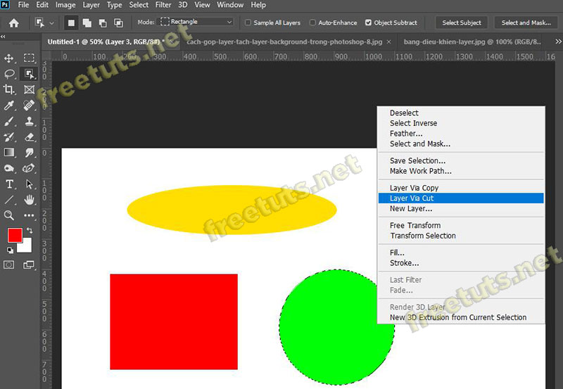 cach gop layer tach layer background trong photoshop 3 jpg