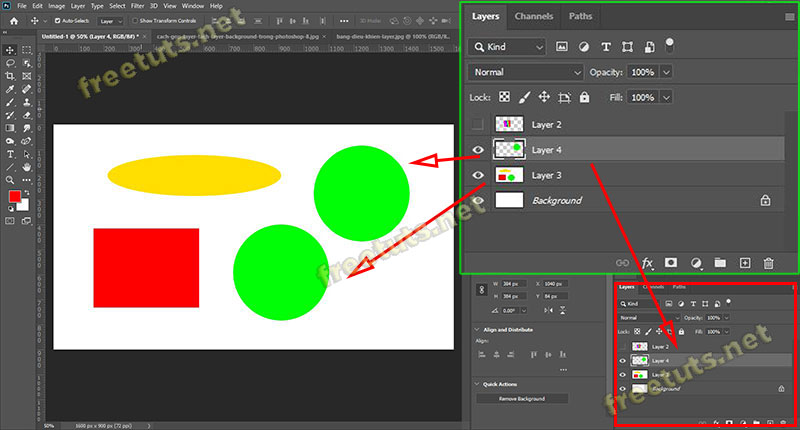 cach gop layer tach layer background trong photoshop 4 1 jpg