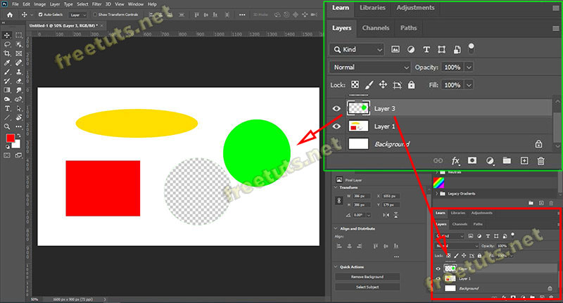 cach gop layer tach layer background trong photoshop 4 jpg