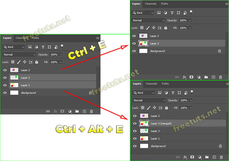 cach gop layer tach layer background trong photoshop 5 jpg