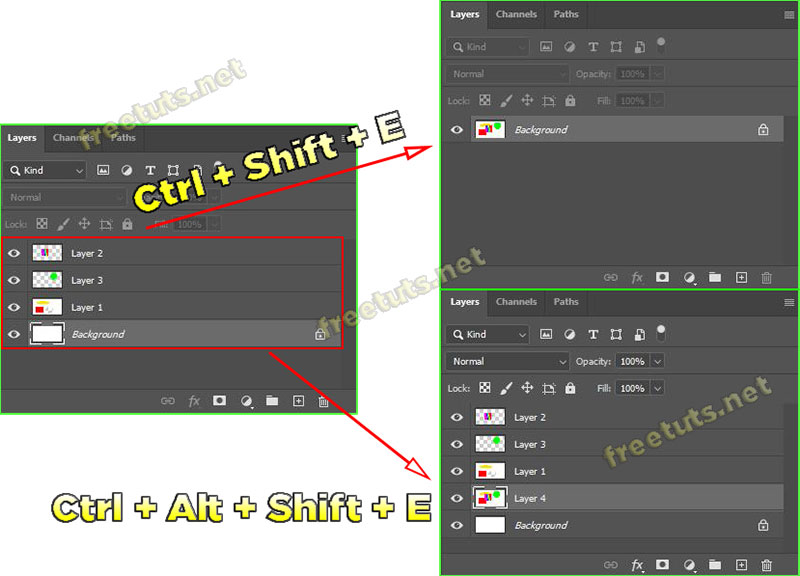 cach gop layer tach layer background trong photoshop 6 jpg