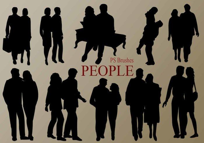 20 people silhouette ps brushes vol 5 jpg